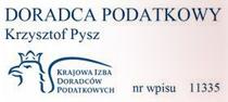 Krzysztof Pysz - Doradca Podatkowy nr 11335